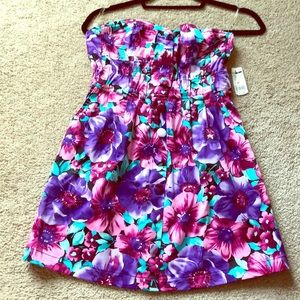 Brand New Strapless Floral Sun Dress